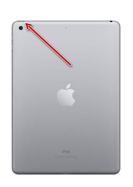 Кнопка Питание на корпусе iPad для перезагрузки системы