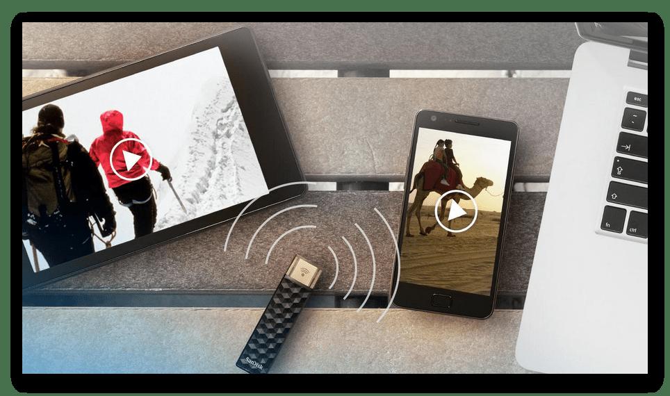 SanDisk Connect Wireless Stick для увеличения памяти на iPhone