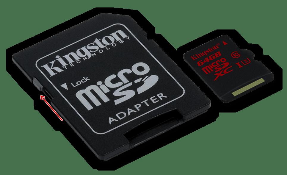 Снятие аппаратной защиты с карты памяти SD microSD