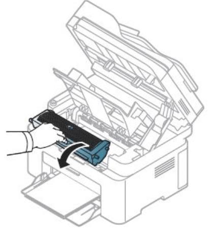 Извлечение картриджа с лазерного принтера компании Samsung