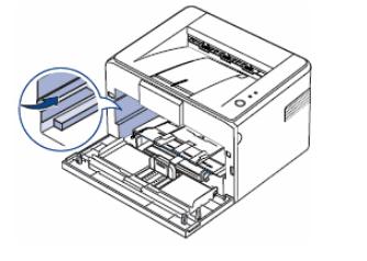 Поиск разъема для установки нового лазерного картриджа для принтера Canon