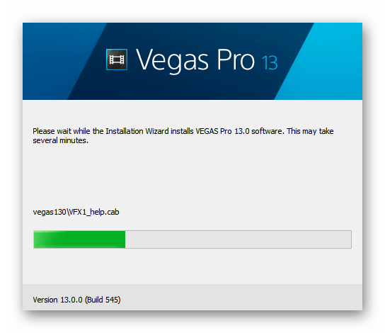 Процесс установки Sony Vegas