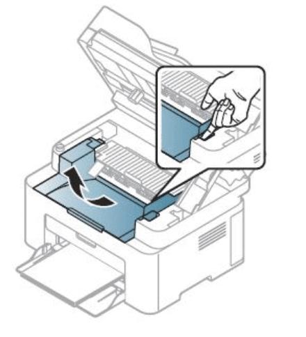 Снятие внутренней крышки с лазерного принтера компании Samsung