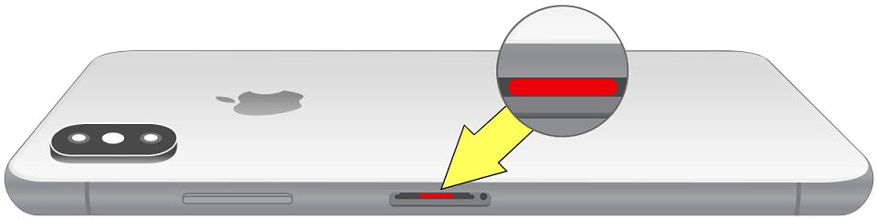 Индикатор попадания жидкости в iPhone