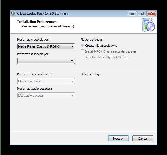 Обновление мультимедийных кодеков в ОС Windows 7