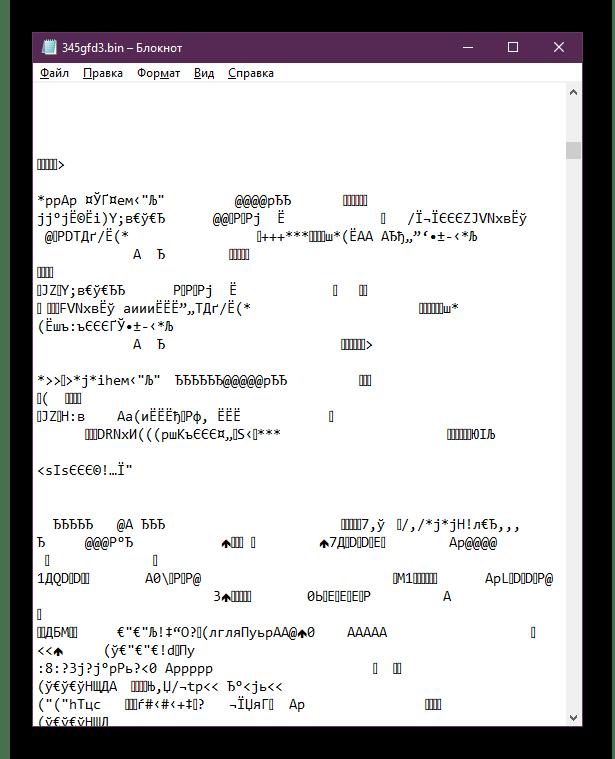 Отображение содержимого BIN-файлов в текстовом редакторе