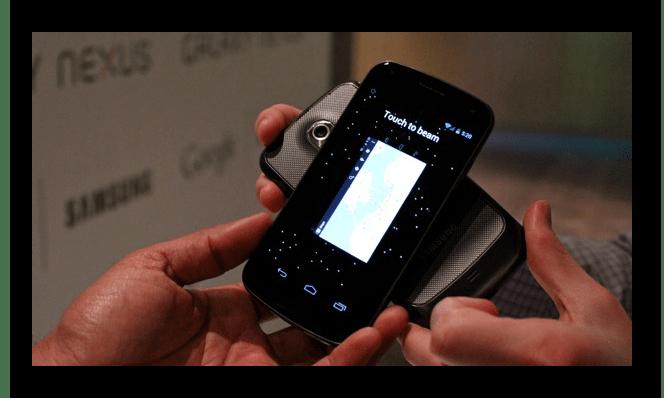 Правильное использование функции Android Beam на телефоне