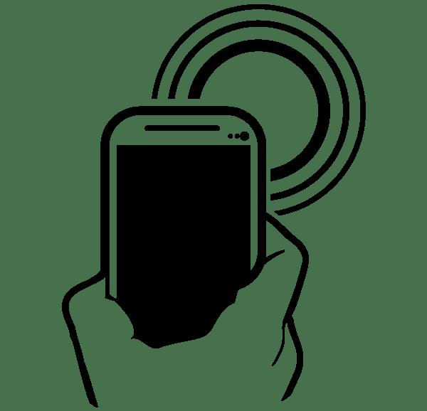 Пример использования телефона с NFC-чипом