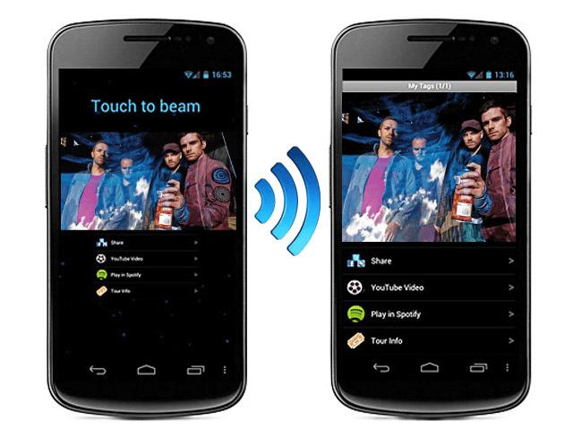 Пример передачи информации с помощью Android Beam