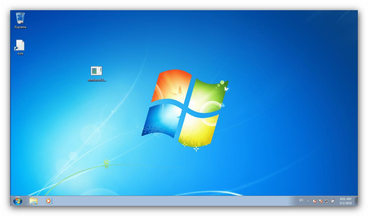 Активированный упрощённый стиль Windows 7