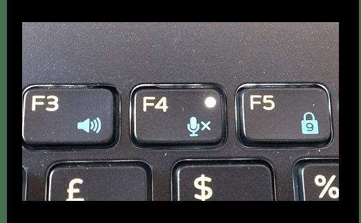 Функциональная клавиша для отключения микрофона на ноутбуке
