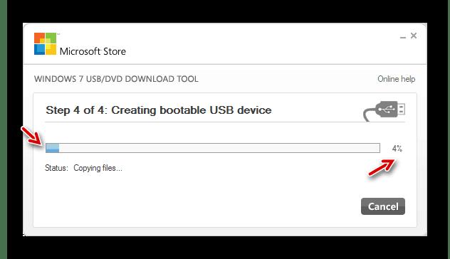 Перезаписать загрузочный носитель для устранения непредвиденной ошибки установки Windows 7