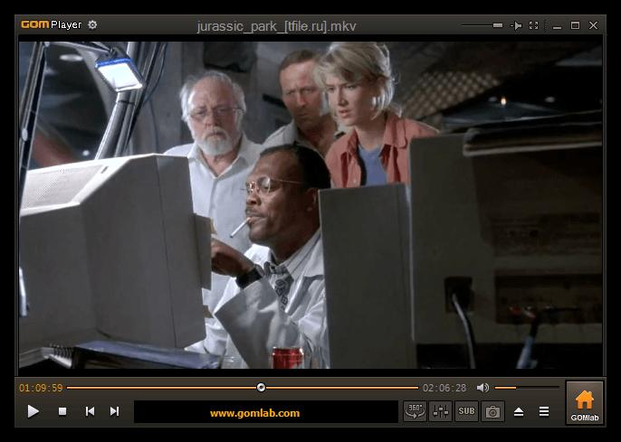 Пример функционирования проигрывателя видео GOM Player на компьютере