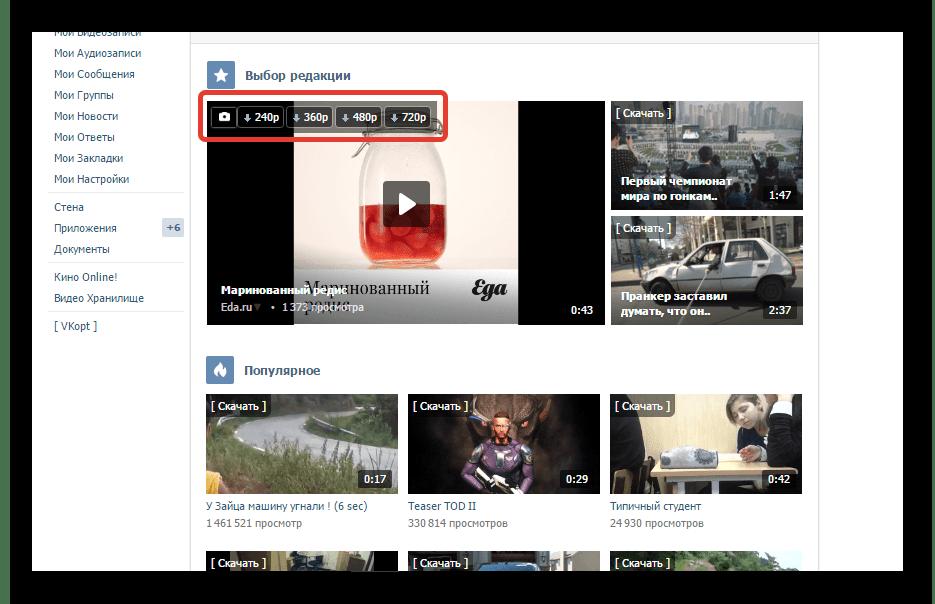 Скачивание видео с социальной сети ВКонтакте с помощью дополнения VkOpt