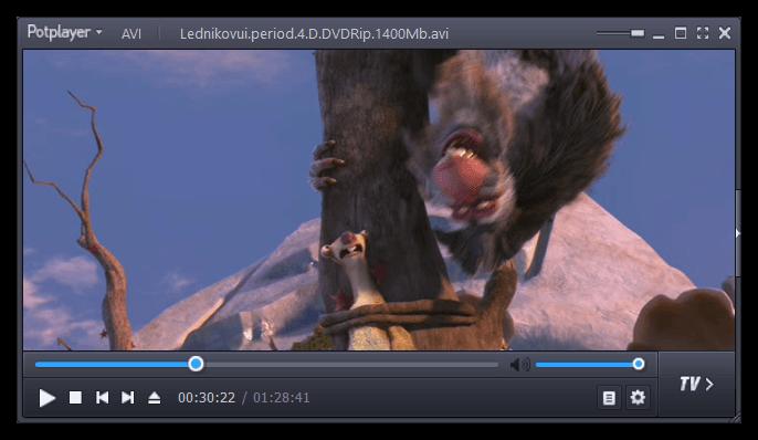 Воспроизведение видео через проигрыватель PotPlayer