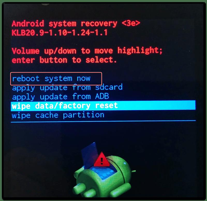 Возможность сброса настроек на Android-устройстве