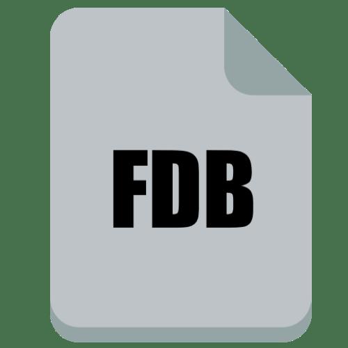 чем открыть fdb