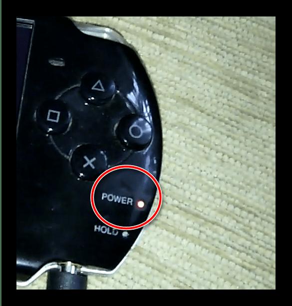 Индикатор идущей зарядки PSP