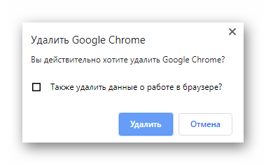 Подтверждение удаления Google Chrome через IObit Uninstaller