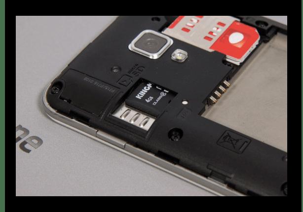 Пример слота под карту памяти на телефоне