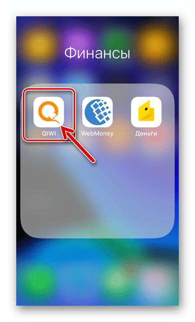 QIWI Кошелек для iOS запуск программы после установки