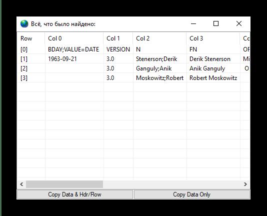Содержимое преобразованного VCF в CSV через VCF-to-CSV