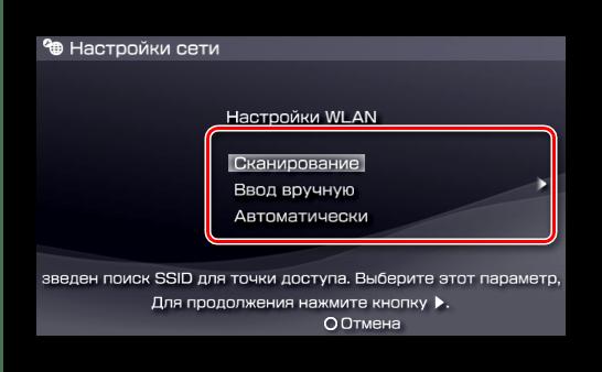 Варианты соединения для подключения к PSP к сети Wi-Fi
