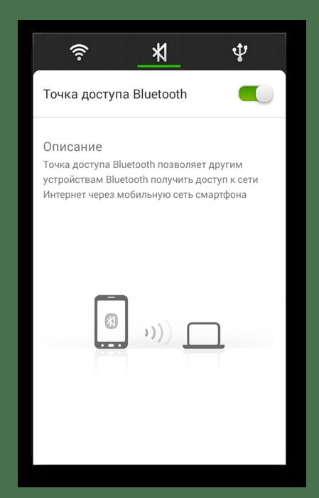 Включение Bluetooth точки доступа на Android