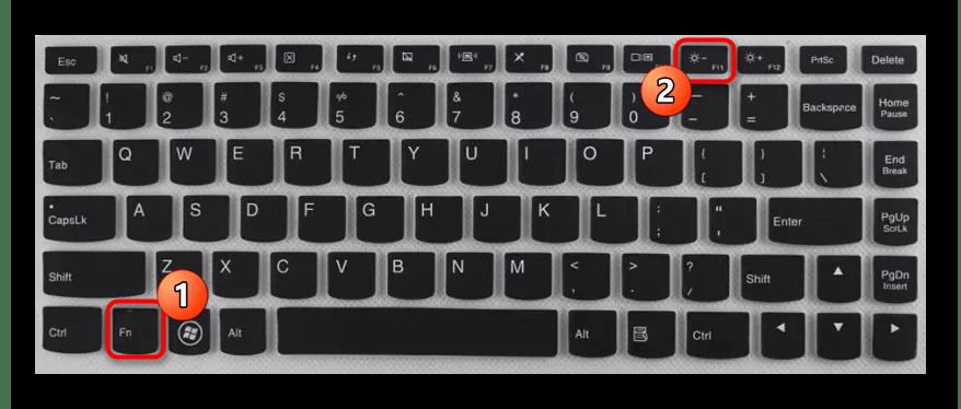 Использование функциональных клавиш клавиатуры для изменения яркости экрана на ноутбуке