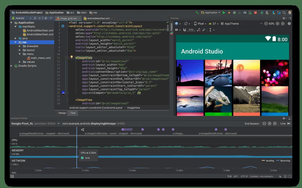 Использование программы Android Studio для написания кода на компьютере