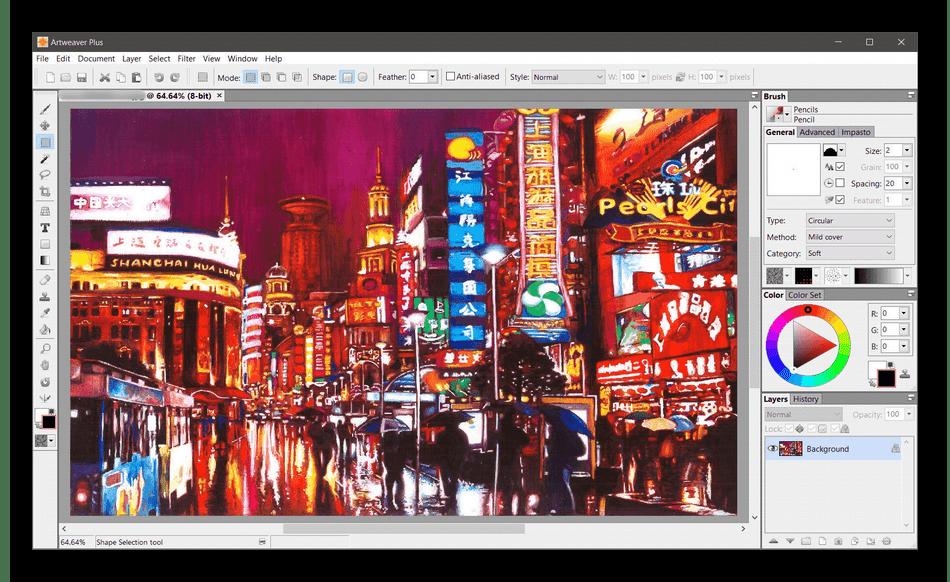 Использование программы Artweaver для рисования на ПК