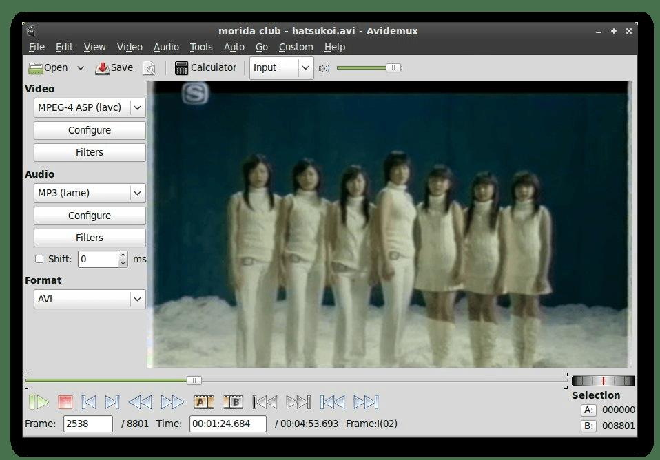 Использование программы Avidemux для редактирования видео в Linux
