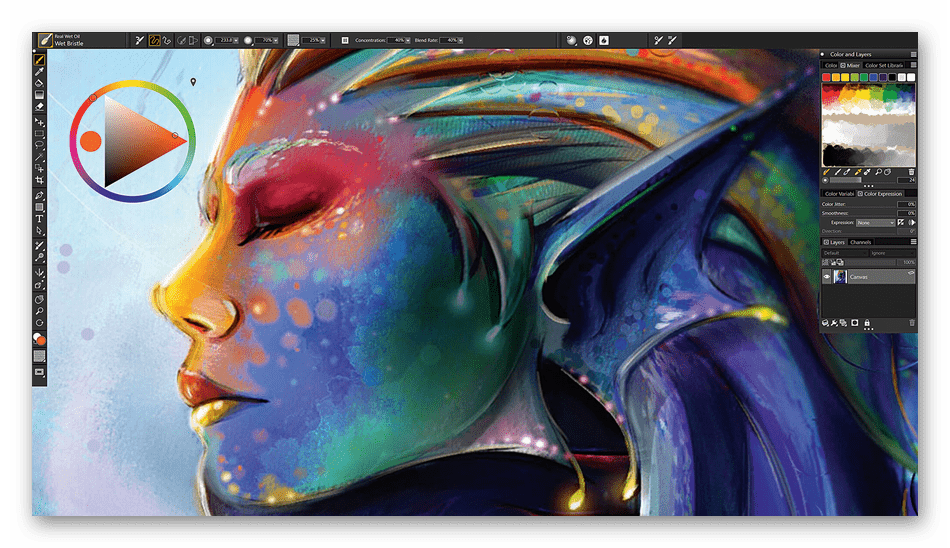 Использование программы Corel Painter для рисования на компьютере