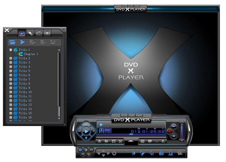 Использование программы DVD X Player Standard для воспроизведения DVD на компьютере