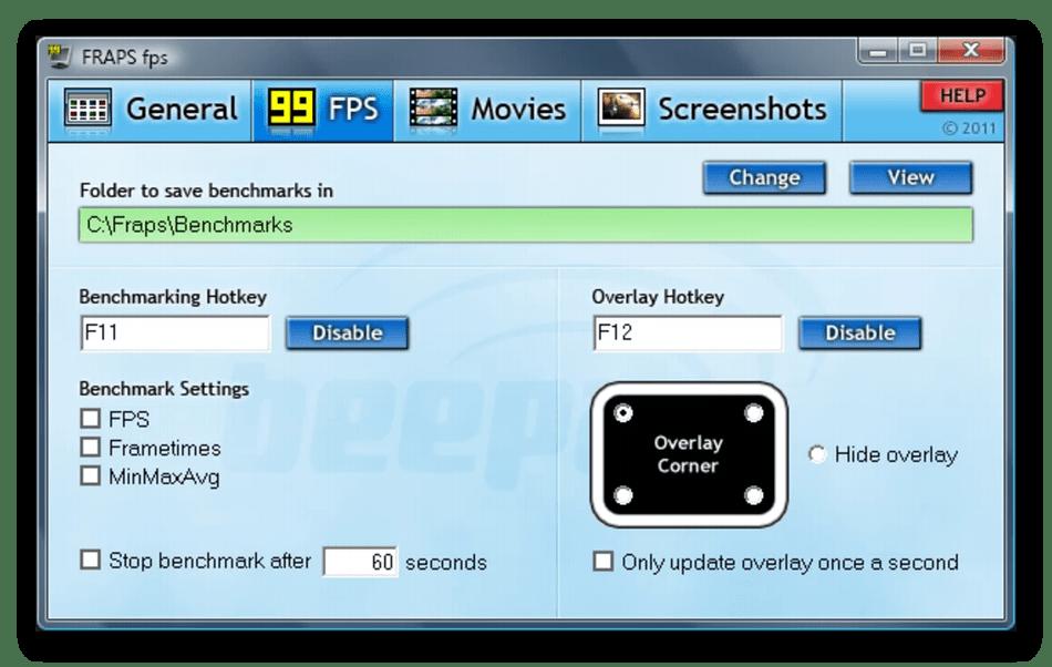 Использование программы Fraps для мониторинга системы в играх