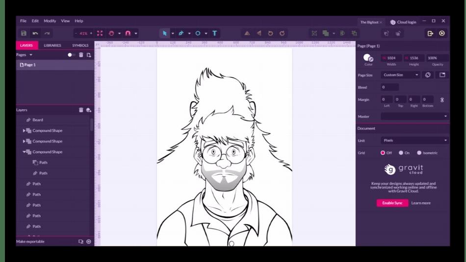 Использование программы Gravit Designer для рисования на компьютере
