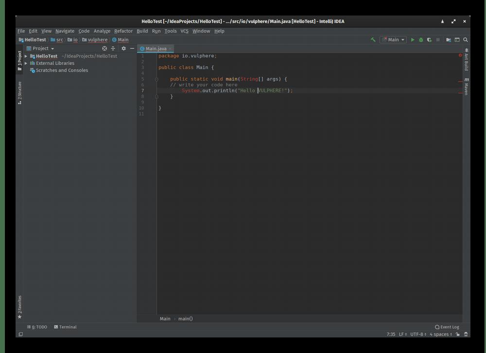 Использование программы IntelliJ IDEA для написания кода на компьютере