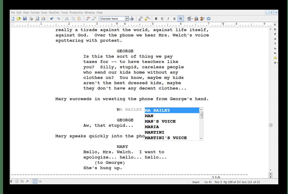 Использование программы Movie Magic Screenwriter для написания сценариев на компьютере