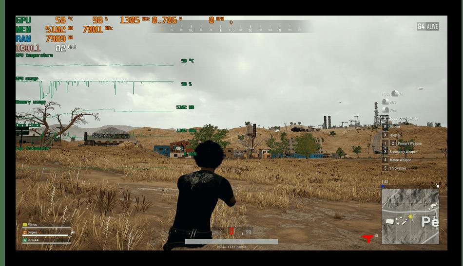 Использование программы MSI Afterburner для мониторинга системы в играх