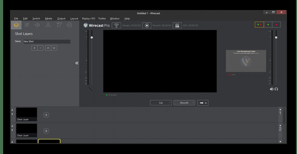 Использование программы Wirecast для проведения прямых трансляций