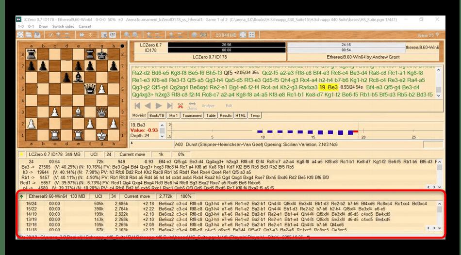 Использование шахматного движка Ethereal для анализа партий