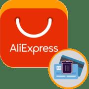 Как удалить карту с AliExpress на компьютере