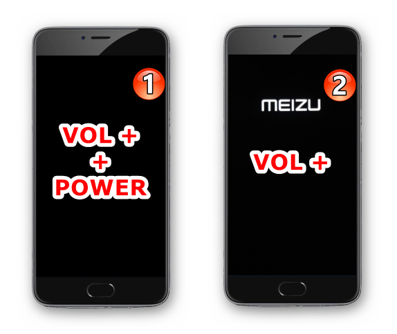 Meizu M3 Note как войти в среду восстановления (рекавери) смартфона