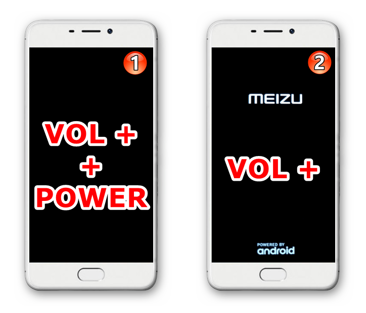 Meizu M6 как войти в рекавери (среду восстановления) смартфона