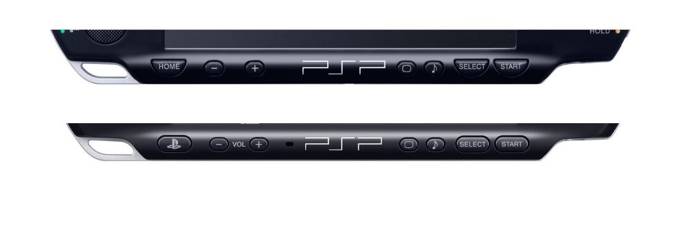 Панель моделей PSP Slim и Brite для определения варианта прошивки
