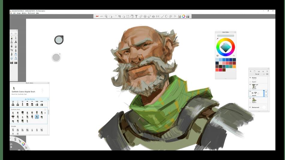 Рисование на компьютере с помощью программы Autodesk SketchBook