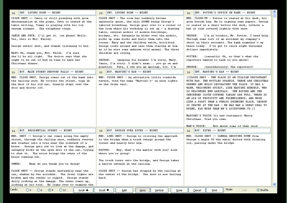 Сохранение заметок в программе Movie Magic Screenwriter при написании сценария