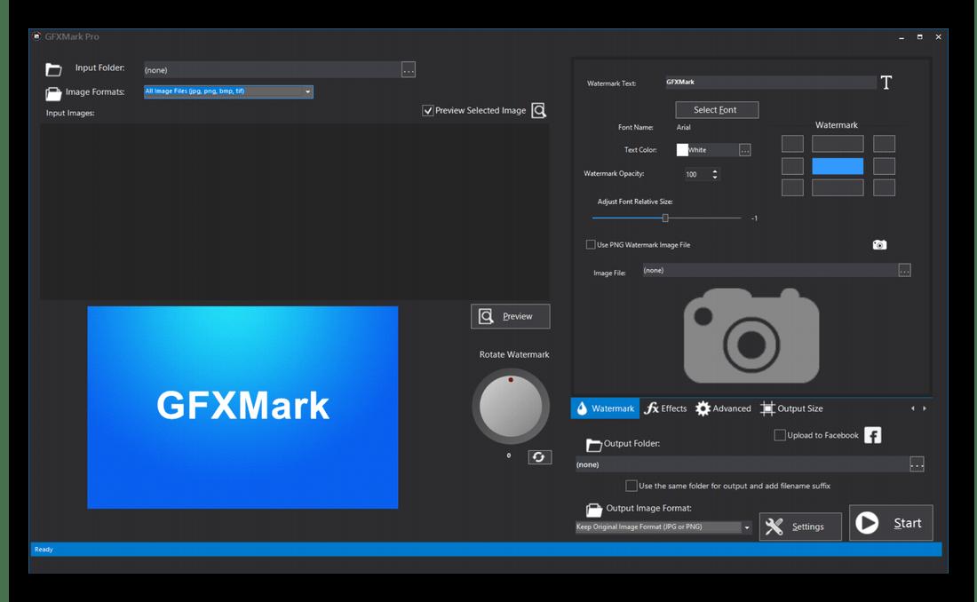 Создание водяного знака через программу GFXMark