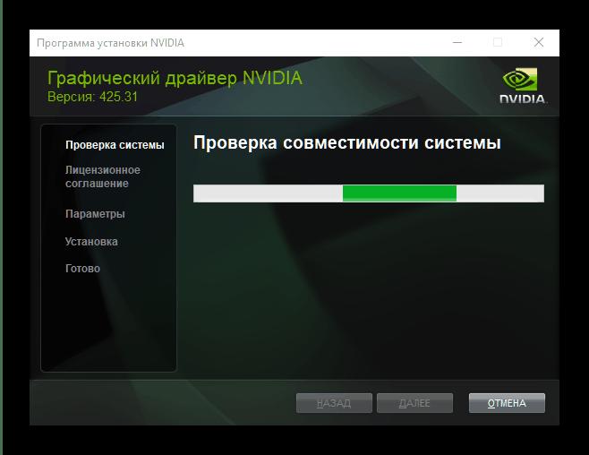 драйверов NVIDIA, полученных автоматически