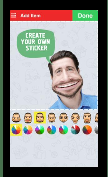 Интерфейс приложения Sticker Tools для iOS